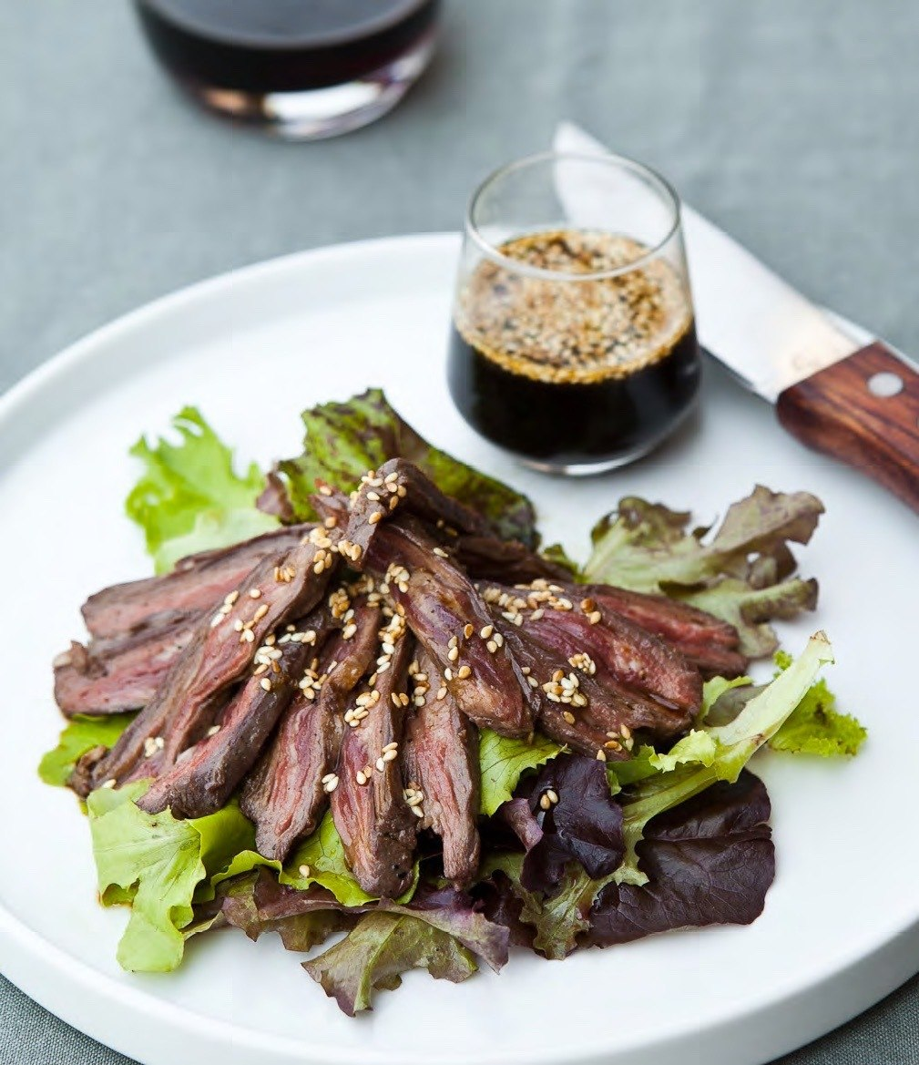 Zing! Soy-Lime Sauce on Grilled Skirt Steak