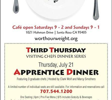 Worth Our Weight Culinary Apprentice Program Brochure